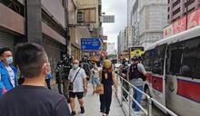 香港九龍遊行 防暴警戒備 (圖)