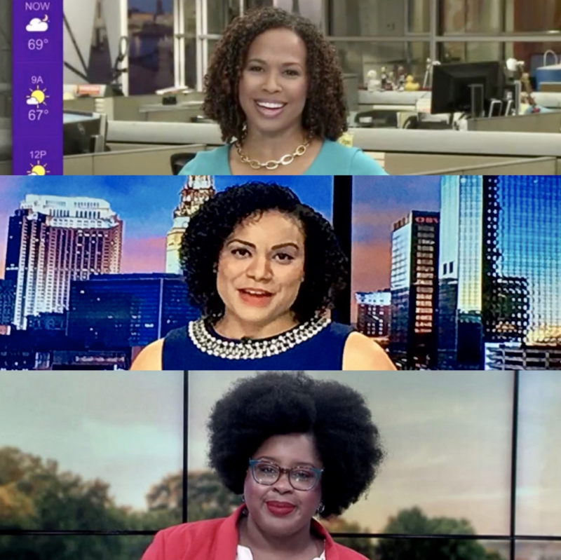 More Black newscasters are embracing their natural hair as conversations around racial injustice make way for on-air representation. (Photo: Twitter/Sia Nyorkor)