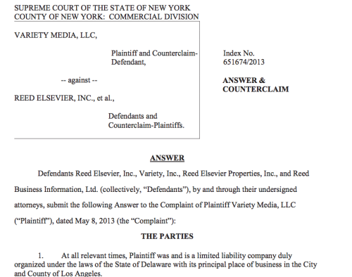 Reed Elsevier Sues Jay Penske's Variety, Claims $1.3 Million Owed