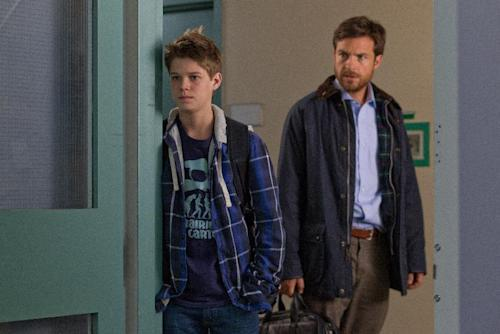 "This film image released by LD Entertainment shows Colin Ford, left, and Jason Bateman in a scene from ""Disconnect."" (AP Photo/LD Entertainment)"