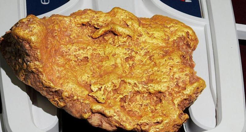 The 'Duck's foot' gold nugget (pictured)