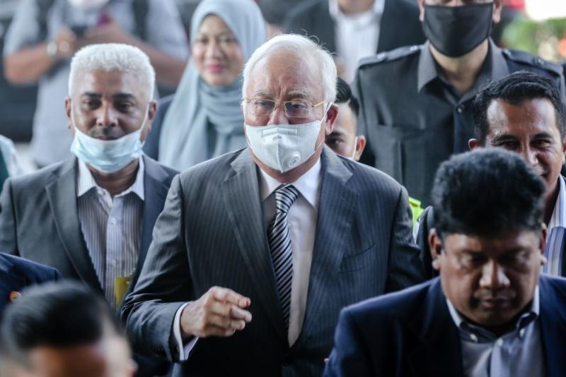 Datuk Seri Najib Razak is pictured at the Kuala Lumpur High Court July 1, 2020. — Picture by Firdaus Latif