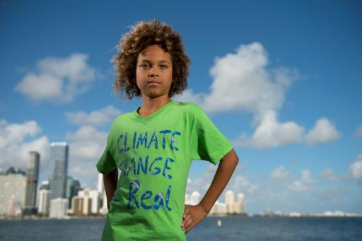 Levi Draheim, an 11-year-old who lives on a barrier island separating the coast of Florida from the Atlantic Ocean, is a plaintiff in a lawsuit against the US government over climate change