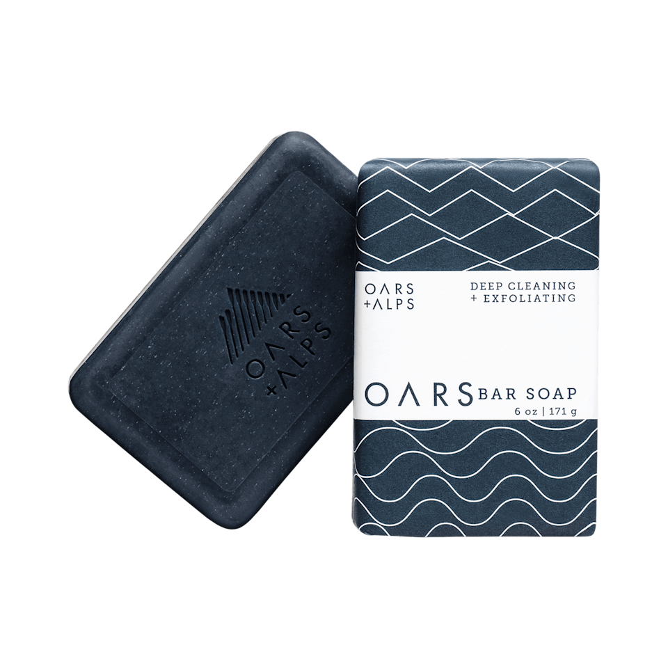 """<p><strong>Oars + Alps</strong></p><p>oarsandalps.com</p><p><strong>$9.95</strong></p><p><a href=""""https://go.redirectingat.com?id=74968X1596630&url=https%3A%2F%2Fwww.oarsandalps.com%2Fproducts%2Foars-bar&sref=https%3A%2F%2Fwww.esquire.com%2Fstyle%2Fgrooming%2Fg32744330%2Fbest-bar-soaps-for-men%2F"""" target=""""_blank"""">Buy</a></p><p>Oars + Alps is a relative newcomer to the grooming space, but the brand's product is so well-executed you'd be forgiven for assuming it's been around for a minute.</p>"""