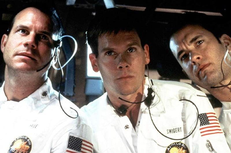 Bill Paxton, Kevin Bacon, and Tom Hanks in Apollo 13
