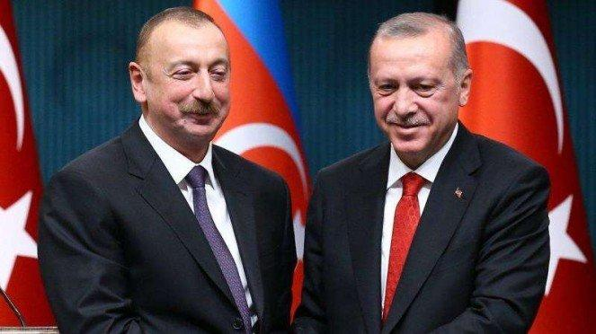 VIVA Militer: Ilham Aliyev bersama Presiden Turki, Recep Tayyip Erdogan