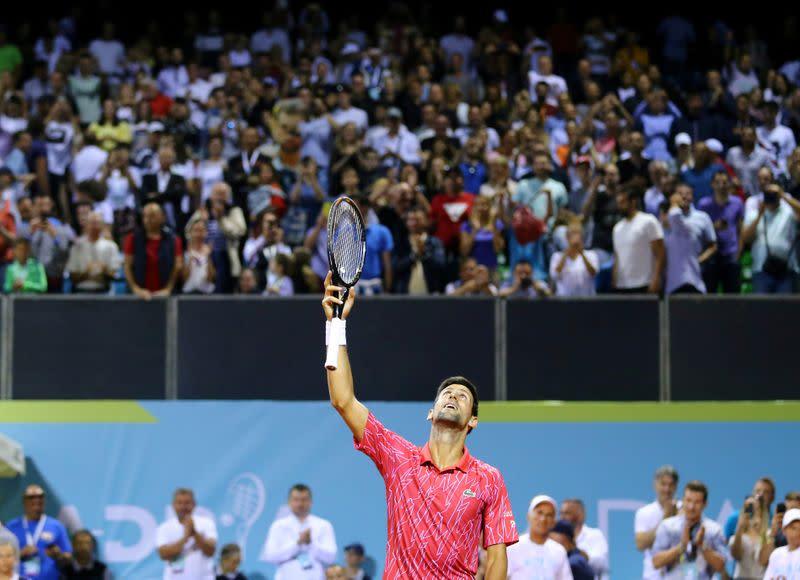 Djokovic reaches final of own exhibition tournament