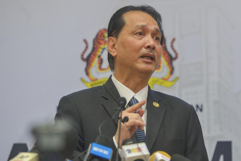 File photo of Health Director-General Tan Sri Dr Noor Hisham speaking during the Covid-19 press conference at the Ministry of Health October 1, 2020. — Picture by Miera Zulyana