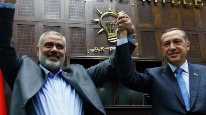 VIVA Militer: Pemimpin Hamas Palestina, Ismail Haniyeh, dan Recep Tayyip Erdogan