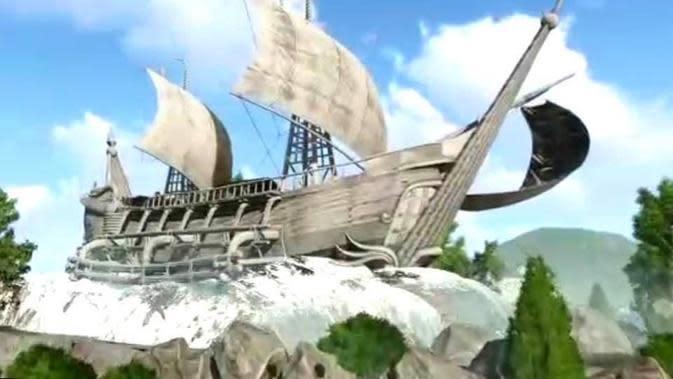 Foto 3D animasi Kapal Sriwijaya yang digunakan di masa Kerajaan Sriwijaya (Dok. pribadi Erwan Suryanegara / Nefri Inge)