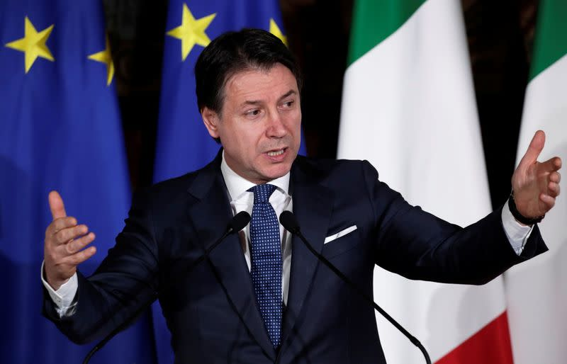 Italian PM Giuseppe Conte hosts French President Emmanuel Macron for a one day Italo-Franco summit in Naples
