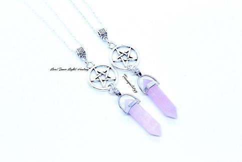 Healing Crystals Attraction Evil Eye Necklace Love Caller Passion Romance Tranquility Emotional Protection Love Quartz Necklace