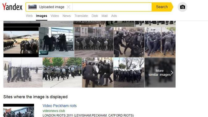 Gambar Tangkapan Layar Penelusuran dengan Yandex