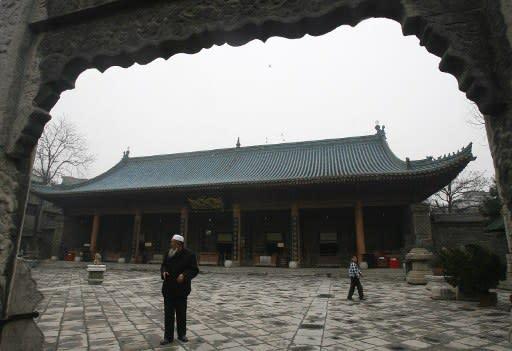 Great Mosque of Xi'an di China menampilkan ciri-ciri budaya Cina bersebelahan dengan seni bina Islam.