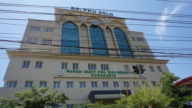 RS PKU Muhammadiyah Solo dijaga ketat jelang menantu Jokowi, Selvi Ananda melahirkan anak keduanya, Jumat (15/11/2019). (Liputan6.com/ Fajar Abrori)