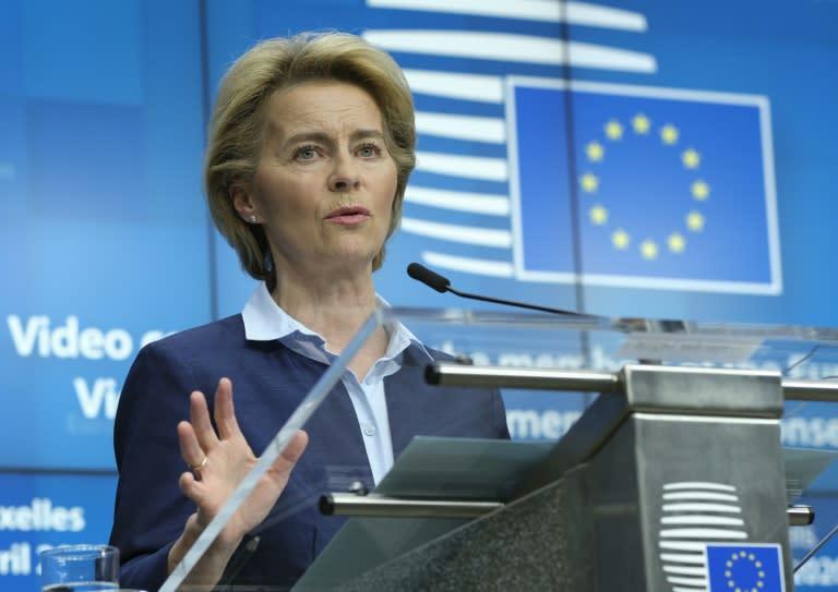 European Commission President Ursula Von Der Leyen played host the global coronavirus telethon, which had no official US representation