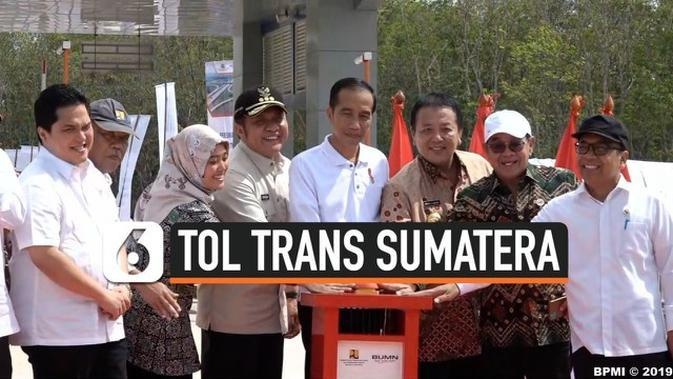VIDEO: Jokowi Resmikan Ruas Tol Trans Sumatera di Lampung
