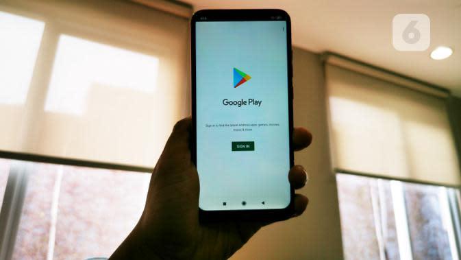 Redmi 8 - Bodi Depan - Google Play. Liputan6.com/Mochamad Wahyu Hidayat