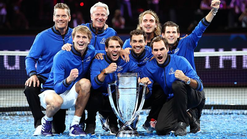 Team Europe, pictured here celebrating with the trophy after the Laver Cup.