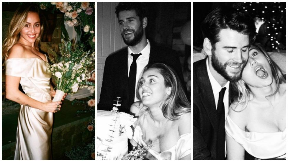 <p>Miley Cyrus has released new photos from her December nuptials to Liam Hemsworth. Photo: Instagram/Miley Cyrus </p>