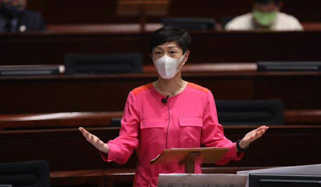 Tanya Chan, convenor of the pro-democracy bloc, said opposition lawmakers initially refused to attend last Thursday's Legco session over public health concerns. Photo: KY Cheng