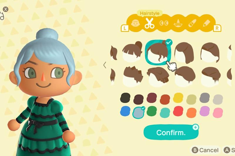 animal crossing new horizons hair styles