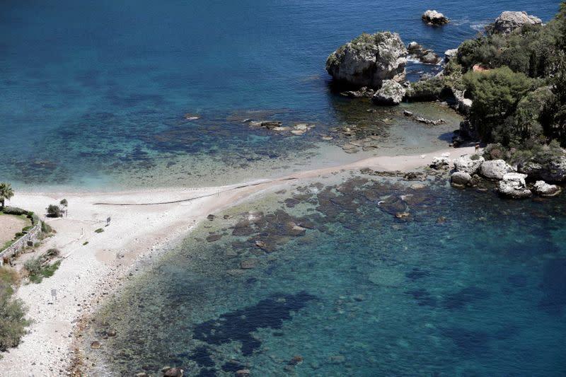 FILE PHOTO: Outbreak of the coronavirus disease (COVID-19) in Taormina