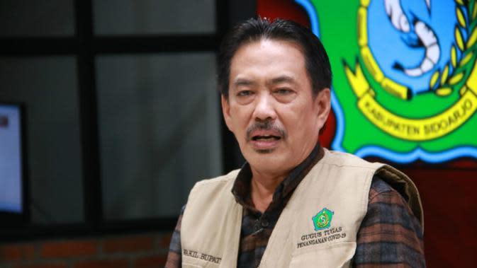 Ketua Gugus Tugas Penanganan Covid-19 Kabupaten Sidoarjo Nur Ahmad Syaifuddin (Foto: Liputan6.com/Dian Kurniawan)