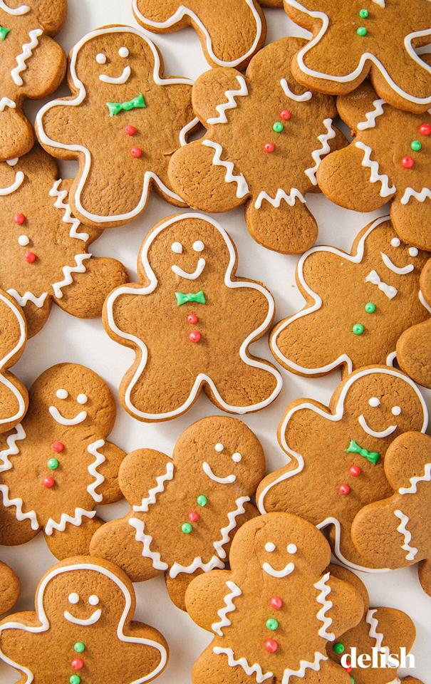"""<p>Master this classic recipe and make gingerbread men worthy of Santa himself.</p><p>Get the recipe from <a href=""""https://www.delish.com/cooking/recipes/a50468/gingerbread-cookies-recipe/"""" target=""""_blank"""">Delish</a>.</p>"""