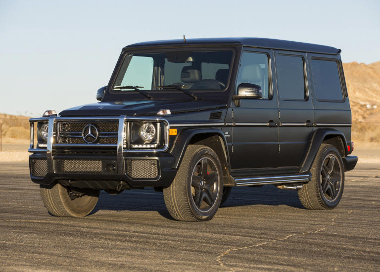 This undated image made available by Mercedes-Benz shows the 2013 G63 AMG. (AP Photo/Mercedes-Benz)