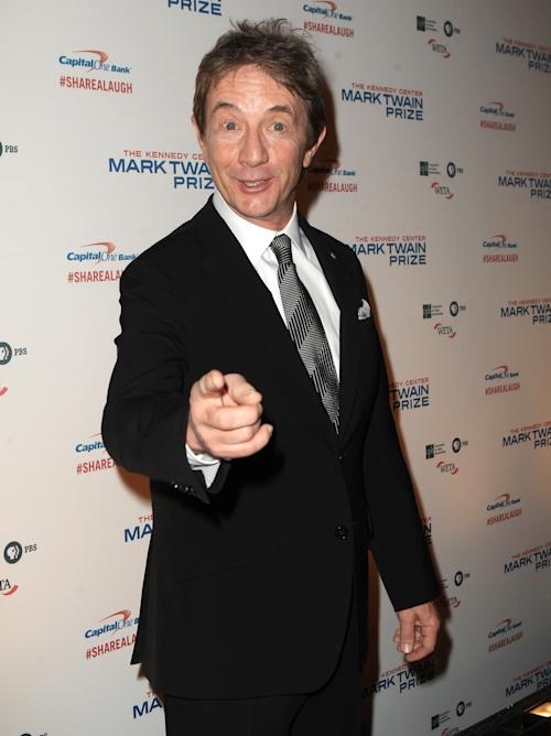 Martin Short arrives at 16th Annual Mark Twain Prize presented to Carol Burnett at the Kennedy Center on Sunday, Oct. 20, 2013 in Washington, D.C. (Photo by Owen Sweeney/Invision/AP)