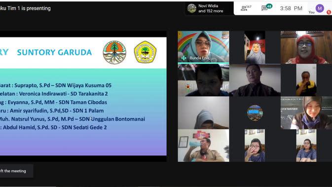 Ratusan guru ikuti wisuda virtual untuk pelestarian air dan lingkungan. (dok. Suntory Garuda Beverage)