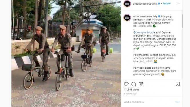 Viral Satpol PP Ramai-ramai Gowes Sepeda Brompton, Begini Faktanya