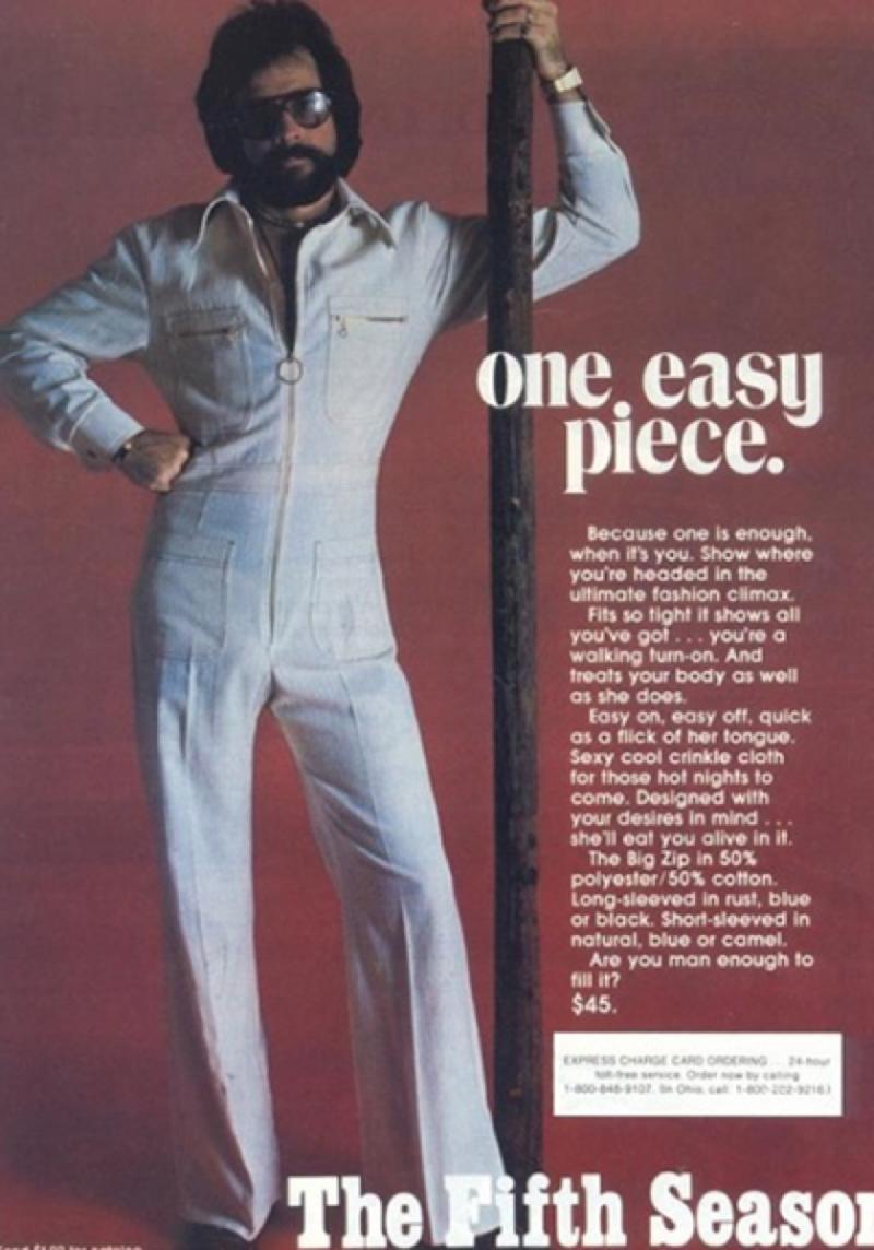 Male Jumpsuit ad 1970s