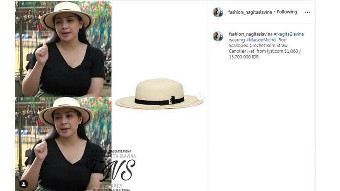 Koleksi topi Nagita Slavina (Sumber: Instagram/fashion_nagitaslavina)