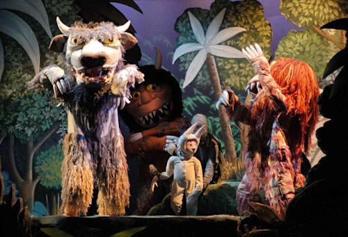 "FILE - In this Jan. 20, 2005 photo released by Syracuse University in Florence, central Italy, Thursday Jan. 20, 2005, shows a moment of the Fantasy Opera in one act and nine scenes, ""Where The Wild Things Are"" which will premiere with a fund raising gala for Florence's Meyer Children's Hospital. The Opera's libretto and original designs are by U.S. illustrator Maurice Sendak. Sendak, author of the popular children's book ""Where the Wild Things Are,"" died, Tuesday, May 8, 2012 at Danbury Hospital in Danbury, Conn. He was 83. (AP Photo/Francesco Guazzelli, Syracuse University in Florence)"