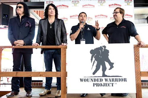 KISS Honor Wounded Warriors at Grand Opening of Band's Rock & Brews Restaurant
