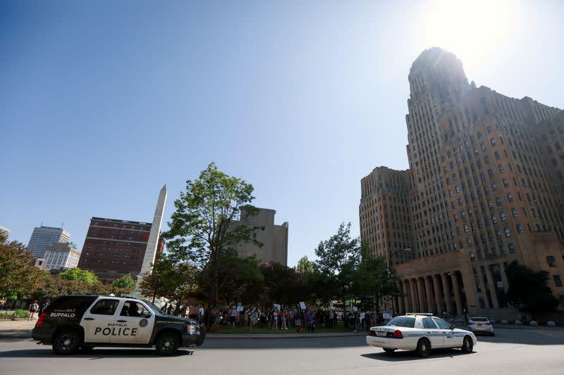 Buffalo police arraigned for felony assault, elderly protestor still critical