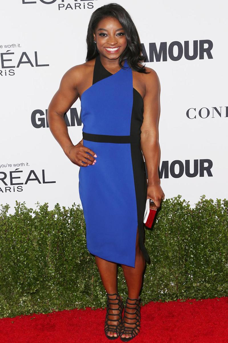 Olympic gymnast Simone Biles attends Glamour Women Of The Year 2016 at NeueHouse Hollywood on November 14, 2016 in Los Angeles, California. (Frederick M. Brown/Getty Images)