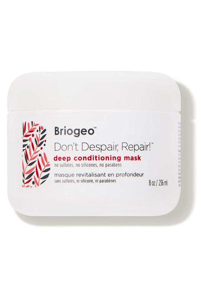 "<p><strong>Briogeo</strong></p><p>dermstore.com</p><p><a href=""https://go.redirectingat.com?id=74968X1596630&url=https%3A%2F%2Fwww.dermstore.com%2Fproduct_Dont%2BDespair%2BRepair%2BDeep%2BConditioning%2BMask_56505.htm&sref=https%3A%2F%2Fwww.bestproducts.com%2Fbeauty%2Fg34238720%2Fdermstore-hair-sale-2020%2F"" target=""_blank"">Shop Now</a></p><p><strong><del>$36</del> $27 (25% off)</strong></p><p>Created for all hair types, celeb-favorite Briogeo's clean products contain a slew of <a href=""https://www.harpersbazaar.com/beauty/g32730603/best-black-owned-beauty-brands/"" target=""_blank"">antioxidants and vitamins</a> that make hair feel and look stronger and healthier. The brand's beloved Don't Despair, Respair! deep conditioning mask has been clinically proven to reduce hair breakage.</p>"