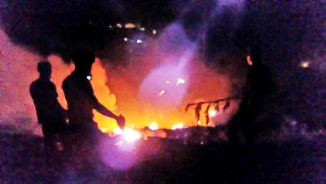 Ilustrasi kebakaran. (Foto: Liputan6.com/Tagana Banyumas/Muhamad Ridlo)
