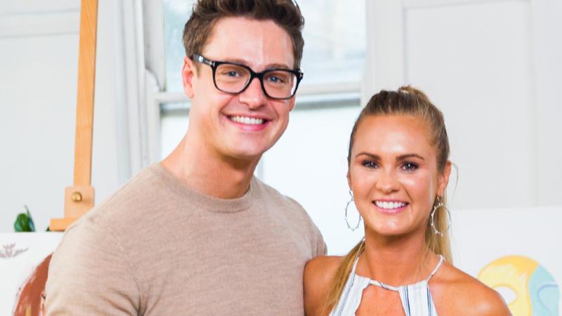 A photo of Matt Agnew Chelsie McLeod on The Bachelor Australia 2019.