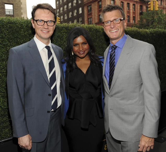 Peter Rice, Mindy Kaling and Kevin Reilly