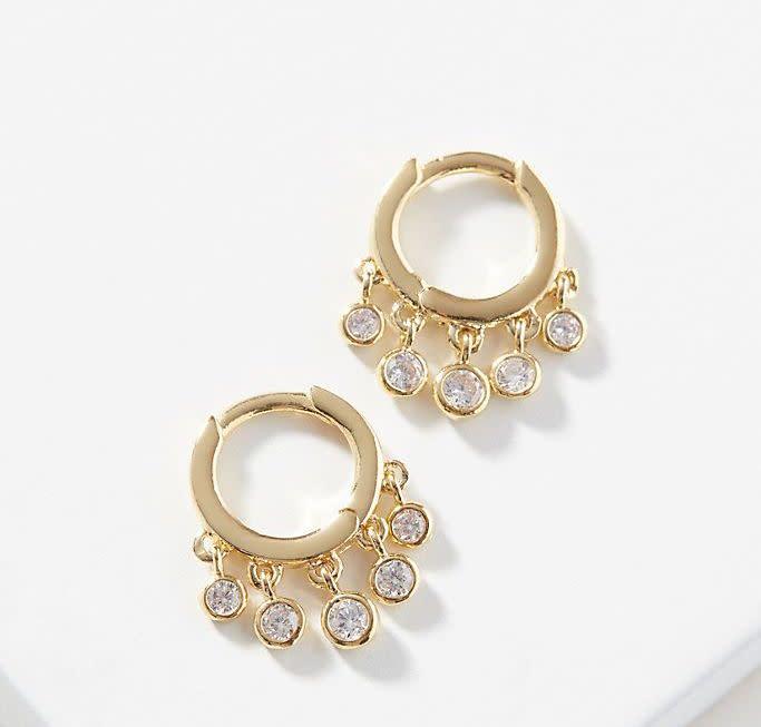 Wendy Huggie Hoop Earrings. Image via Anthropologie.