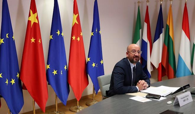 European Council President Charles Michel will take part in a virtual summit with Chinese President Xi Jinping on Monday. Photo: Reuters