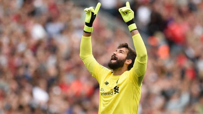 Kiper Liverpool, Alisson Becker. (AFP/Oli Scarff)
