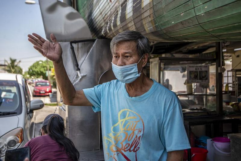 With the market closed, hawker Ong says he had to resort to buying supplies from other markets that are not in the same area, which means paying more for the supplies he needs to run his char kuay teow stall.