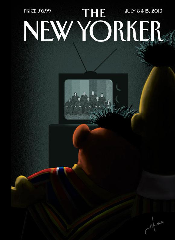 Bert and Ernie Cuddle on New Yorker's Gay Marriage Cover