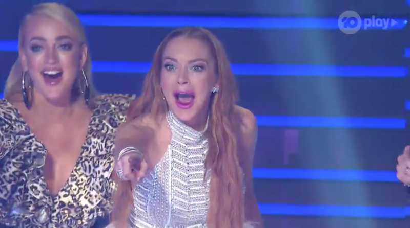 Lindsay Lohan guess winner of The Masked Singer