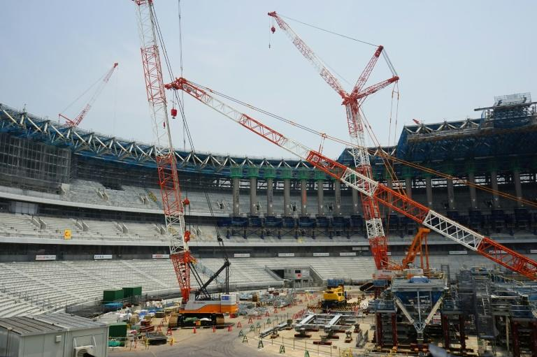Construction work at the Tokyo Olympic Stadium looked similar to how it was depicted in the Akira comics